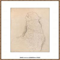 奥地利绘画大师克里姆特Austria Gustav Klimt素描手稿人物素描经典素描高清图片克里姆特速写 (73)