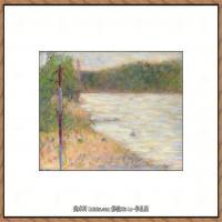法国新印象主义点彩派画家乔治修拉Georges Seurat油画作品高清大图 (48)