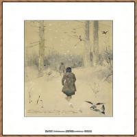 俄罗斯画家伊萨克列维坦Isaac Levitan油画风景作品图片风景油画高清大图 (33)