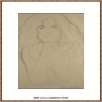 奥地利绘画大师克里姆特Austria Gustav Klimt素描手稿人物素描经典素描高清图片克里姆特速写 (39)