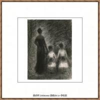 法国新印象主义点彩派画家乔治修拉Georges Seurat油画作品高清大图 (28)