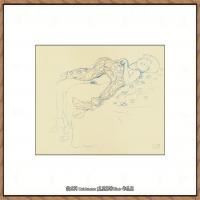 奥地利绘画大师克里姆特Austria Gustav Klimt素描手稿人物素描经典素描高清图片克里姆特速写 (35)