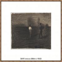 法国新印象主义点彩派画家乔治修拉Georges Seurat油画作品高清大图 (11)