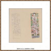 奥地利绘画大师克里姆特Austria Gustav Klimt素描手稿人物素描经典素描高清图片克里姆特速写 (62)