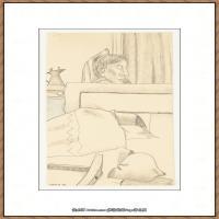 英国表现派绘画大师卢西安弗洛伊德Lucian Freud油画作品高清大图最贵画家卢西安弗洛伊德绘画作品高清图库 (2)