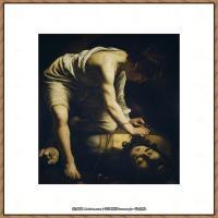 意大利画家卡拉瓦乔Caravaggio油画人物高清图片David Victorious over Goliath, Ea