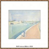 法国新印象主义点彩派画家乔治修拉Georges Seurat油画作品高清大图 (55)