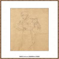 奥地利绘画大师克里姆特Austria Gustav Klimt素描手稿人物素描经典素描高清图片克里姆特速写 (76)