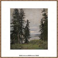 俄罗斯画家伊萨克列维坦Isaac Levitan油画风景作品图片风景油画高清大图 (32)