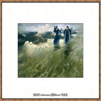 列宾Ilya Repin经典油画作品高清图片人物肖像油画作品图片素材写实派画家油画作品大图 (20)