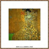 奥地利画家克里姆特Gustav Klimt油画作品高清图片布洛赫包尔太太