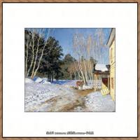 俄罗斯画家伊萨克列维坦Isaac Levitan油画风景作品图片风景油画高清大图 (22)