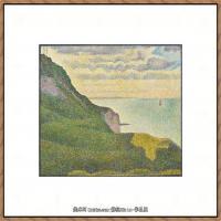法国新印象主义点彩派画家乔治修拉Georges Seurat油画作品高清大图 (38)