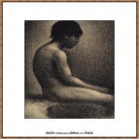 法国新印象主义点彩派画家乔治修拉Georges Seurat油画作品高清大图 (6)