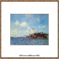 俄罗斯画家伊萨克列维坦Isaac Levitan油画风景作品图片风景油画高清大图 (15)