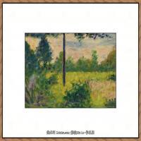 法国新印象主义点彩派画家乔治修拉Georges Seurat油画作品高清大图 (34)