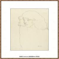 奥地利绘画大师克里姆特Austria Gustav Klimt素描手稿人物素描经典素描高清图片克里姆特速写 (33)