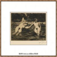 瑞典画家佐恩AndersZorn素描作品高清图片瑞典艺术大师佐恩的线条素描佐恩原作线稿高清图片下载 (94)