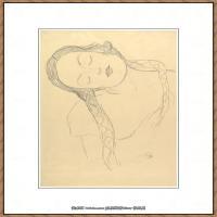 奥地利绘画大师克里姆特Austria Gustav Klimt素描手稿人物素描经典素描高清图片克里姆特速写 (25)