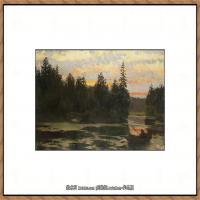 俄罗斯画家伊萨克列维坦Isaac Levitan油画风景作品图片风景油画高清大图 (24)