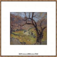 俄罗斯画家伊萨克列维坦Isaac Levitan油画风景作品图片风景油画高清大图 (3)