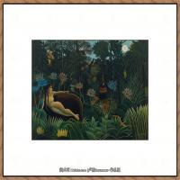 法国画家亨利卢梭Jacques Rousseau油画作品高清图片杰出的油画作品梦 (17)