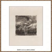 瑞典画家佐恩AndersZorn素描作品高清图片瑞典艺术大师佐恩的线条素描佐恩原作线稿高清图片下载 (43)