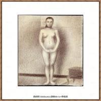 法国新印象主义点彩派画家乔治修拉Georges Seurat油画作品高清大图 (13)