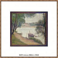 法国新印象主义点彩派画家乔治修拉Georges Seurat油画作品高清大图 (7)