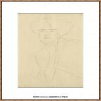 奥地利绘画大师克里姆特Austria Gustav Klimt素描手稿人物素描经典素描高清图片克里姆特速写 (57)