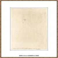 奥地利绘画大师克里姆特Austria Gustav Klimt素描手稿人物素描经典素描高清图片克里姆特速写 (65)