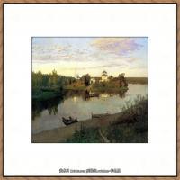 俄罗斯画家伊萨克列维坦Isaac Levitan油画风景作品图片风景油画高清大图 (21)