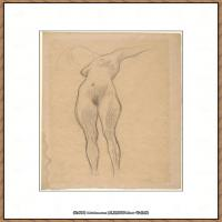 奥地利绘画大师克里姆特Austria Gustav Klimt素描手稿人物素描经典素描高清图片克里姆特速写 (9)