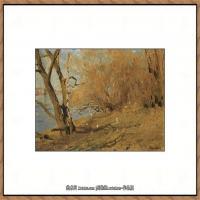 俄罗斯画家伊萨克列维坦Isaac Levitan油画风景作品图片风景油画高清大图 (5)
