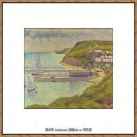 法国新印象主义点彩派画家乔治修拉Georges Seurat油画作品高清大图 (27)