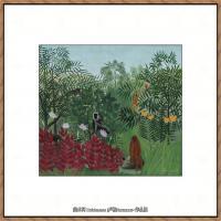 法国画家亨利卢梭Jacques Rousseau油画作品高清图片杰出的油画作品梦 (29)