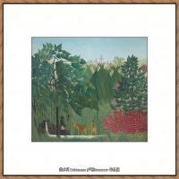 法国画家亨利卢梭Jacques Rousseau油画作品高清图片杰出的油画作品梦 (42)
