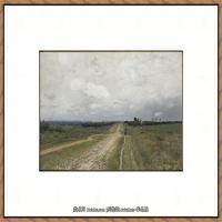 俄罗斯画家伊萨克列维坦Isaac Levitan油画风景作品图片风景油画高清大图 (28)