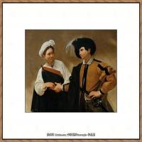 意大利画家卡拉瓦乔Caravaggio油画人物高清图片The Fortune Teller