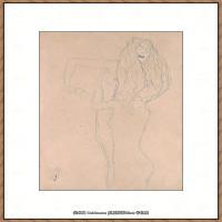 奥地利绘画大师克里姆特Austria Gustav Klimt素描手稿人物素描经典素描高清图片克里姆特速写 (67)