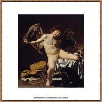 意大利画家卡拉瓦乔Caravaggio油画人物高清图片Cupid as Victor-