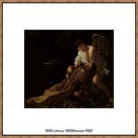 意大利画家卡拉瓦乔Caravaggio油画人物高清图片Saint Francis of Assisi in Ecstas