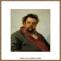 列宾Ilya Repin经典油画作品高清图片人物肖像油画作品图片素材写实派画家油画作品大图 (12)