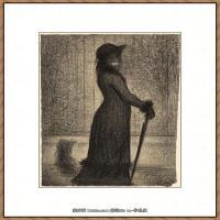 法国新印象主义点彩派画家乔治修拉Georges Seurat油画作品高清大图 (3)