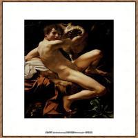意大利画家卡拉瓦乔Caravaggio油画人物高清图片Saint John the Baptist (Youth wit