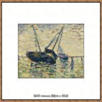 法国新印象主义点彩派画家乔治修拉Georges Seurat油画作品高清大图 (33)