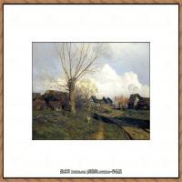 俄罗斯画家伊萨克列维坦Isaac Levitan油画风景作品图片风景油画高清大图 (9)
