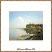 俄罗斯画家伊萨克列维坦Isaac Levitan油画风景作品图片风景油画高清大图 (14)