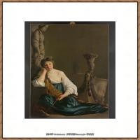 意大利画家卡拉瓦乔Caravaggio油画人物高清图片The Disillusioned Medea