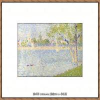 法国新印象主义点彩派画家乔治修拉Georges Seurat油画作品高清大图 (46)